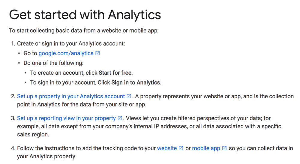 Get started with Analytics screenshot