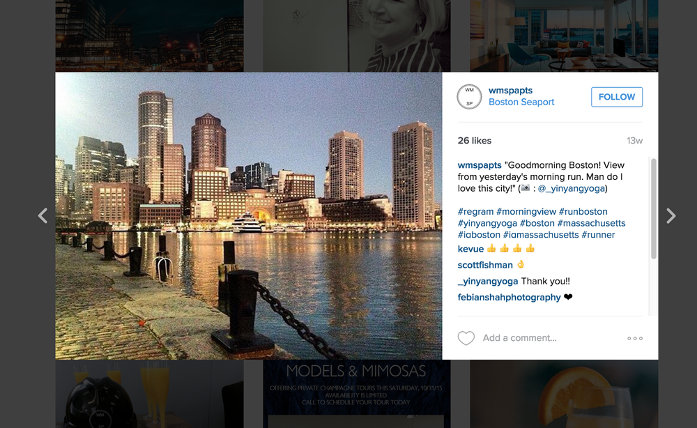 Instagram post screenshot from Boston