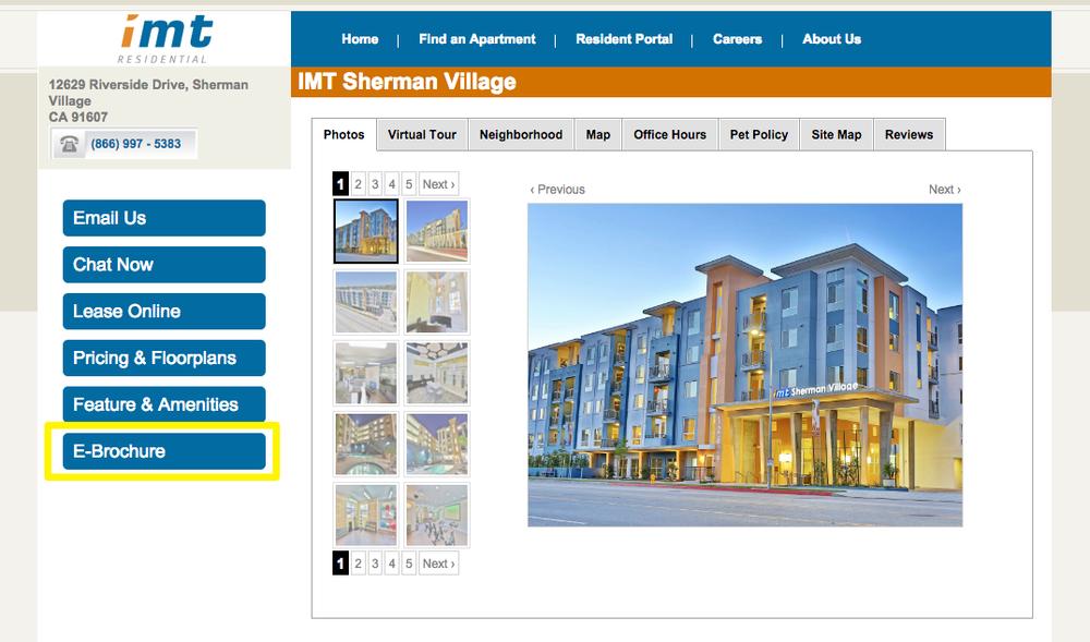 Apartment For Rent -Sherman Village CA -IMT Sherman Village -LEED Certified