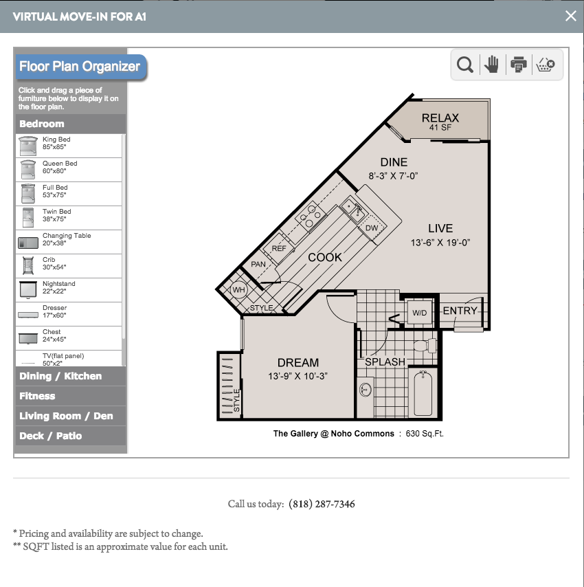 The Gallery Noho Commons North hollywood Floor Plans 2