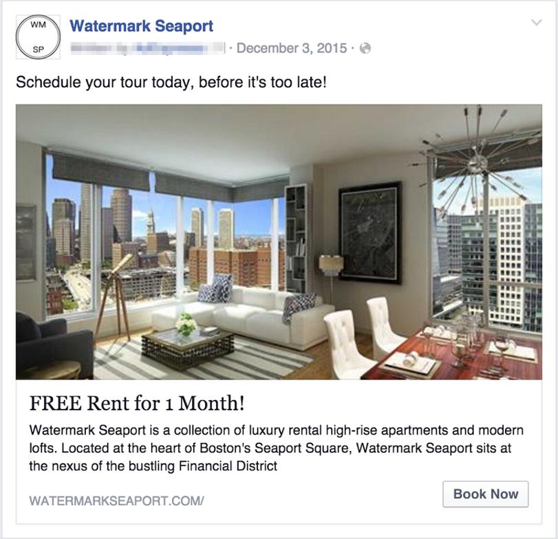 Watermark Seaport Facebook Ad Example screenshot