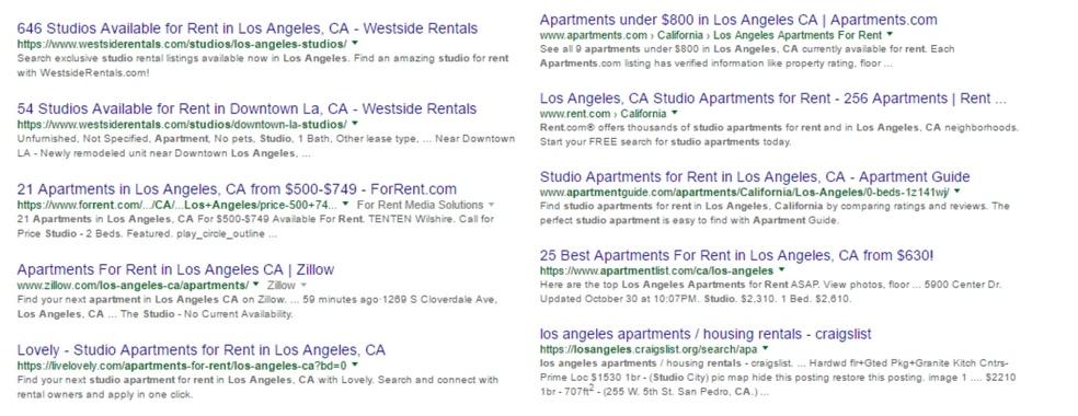 apartment listing sites