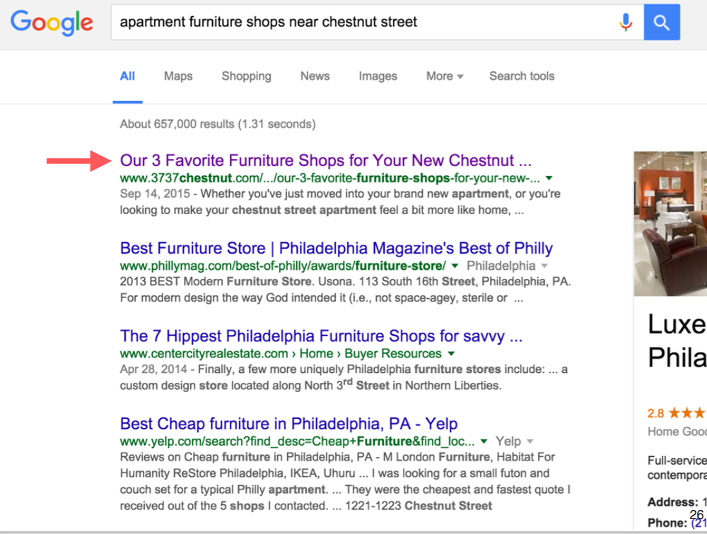 Google search results screenshot