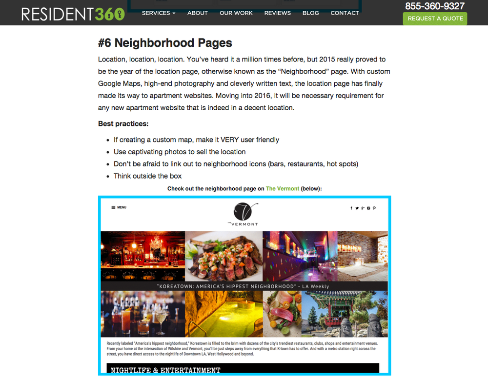 Resident360 Neighborhood Pages