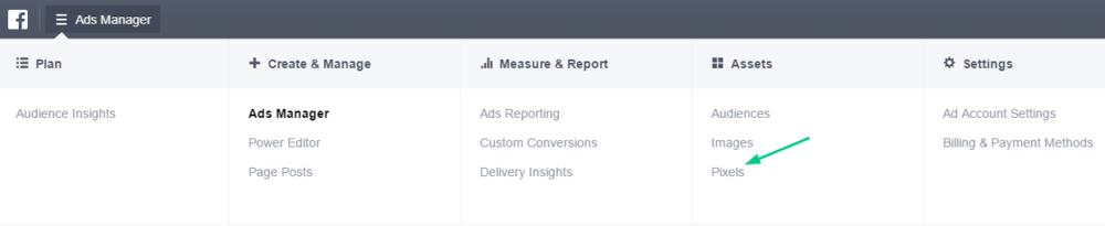 Facebook Ads Manager screenshot
