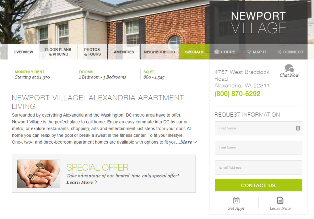 Newport Village Contact Form