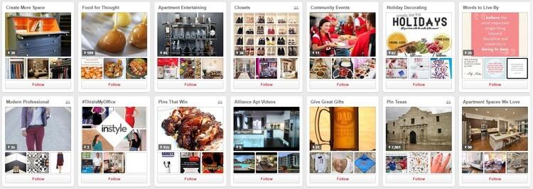 Alliance Residential Company Pinterest Marketing