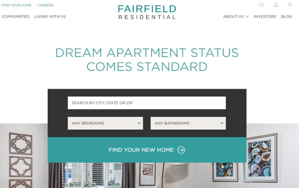 Fairfield Above the fold