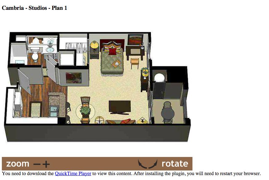 Cambria Studio Floor Plan