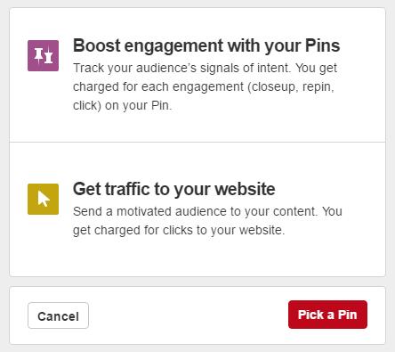Pinterest Ads Goals