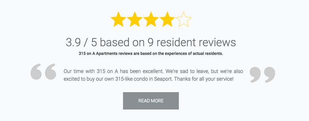 Resident reviews screenshot