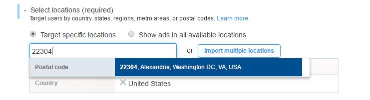 Twitter Advertising Location Targeting