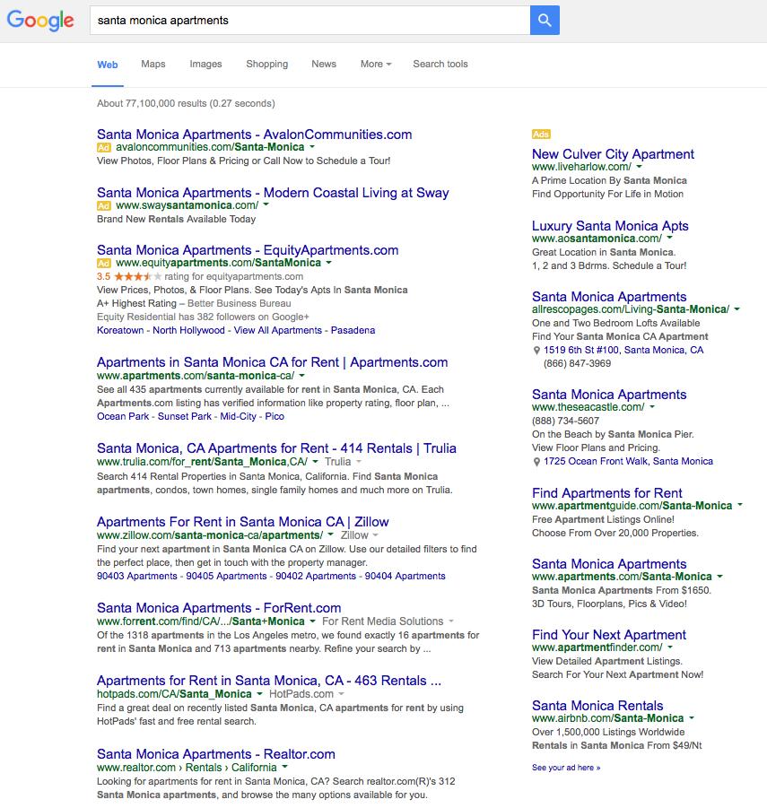 Google Apartment Search