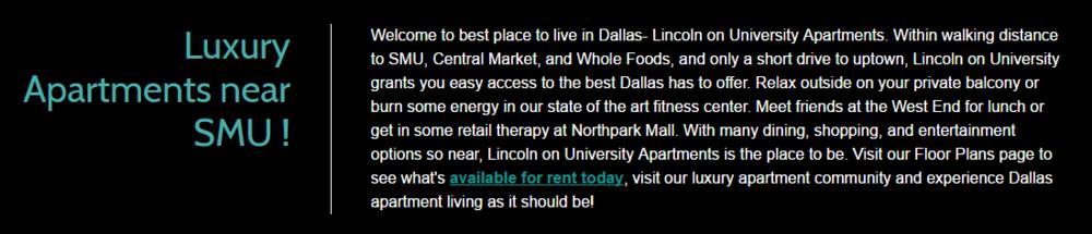 Lincoln University Apartments