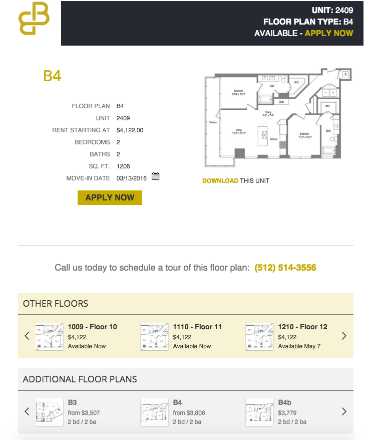Floor plan type