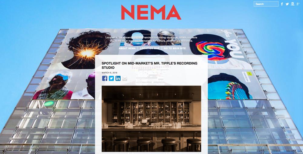 NEMA San Fran home page screenshot