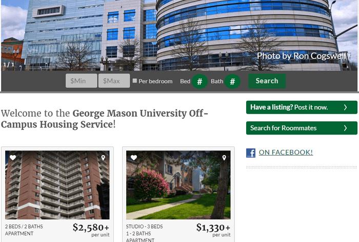 George Mason Apartment Search
