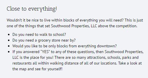 Southwood Properties Emotional Marketing