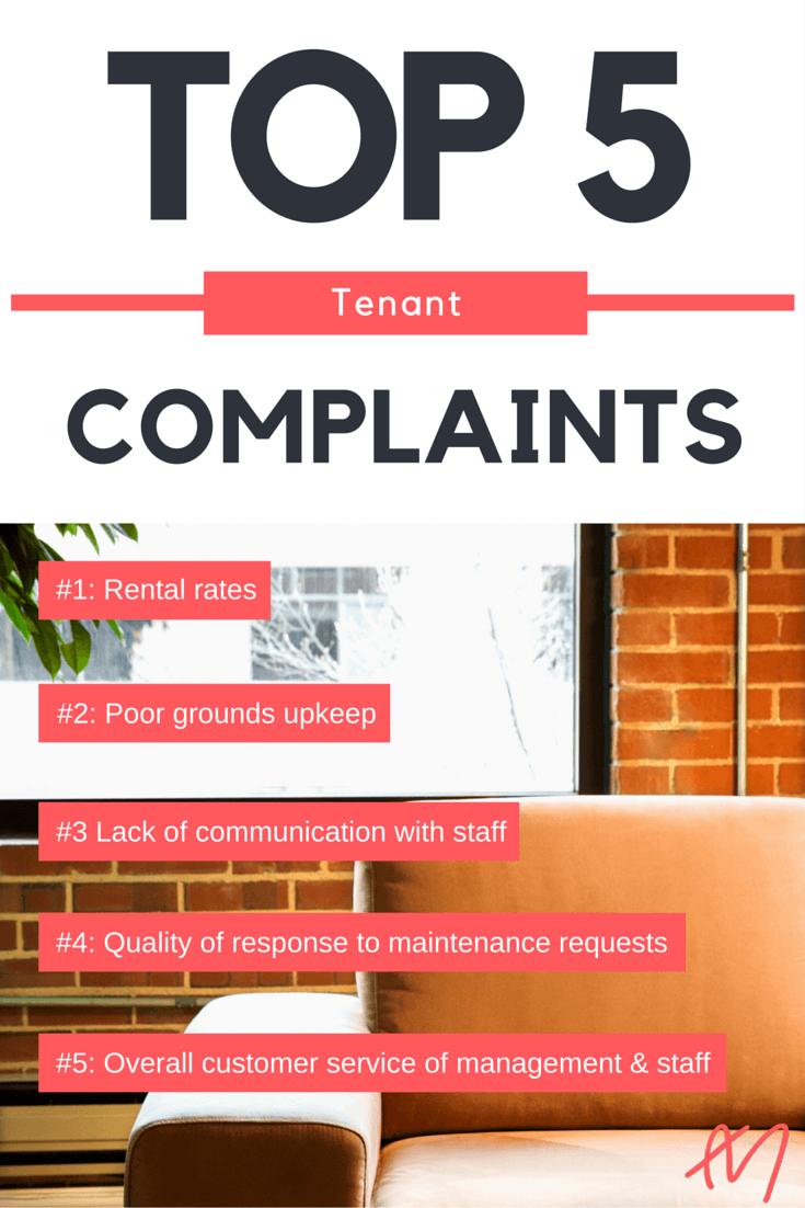 Top Apartment Resident Complaints