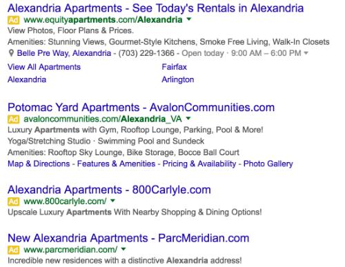 apartment ads