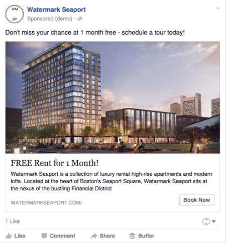 Watermark Seaport Facebook Ad