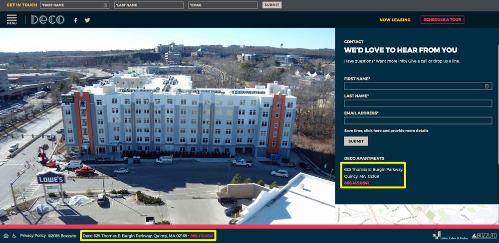 Deco website screenshot