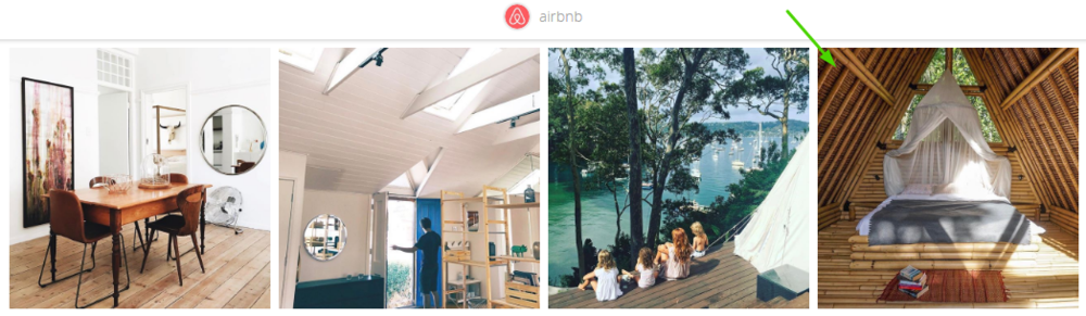 airbnb instagram landing page