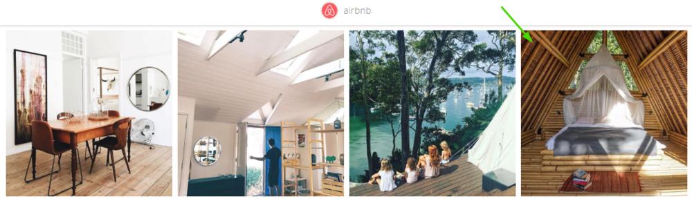 airbnb instagram landing page