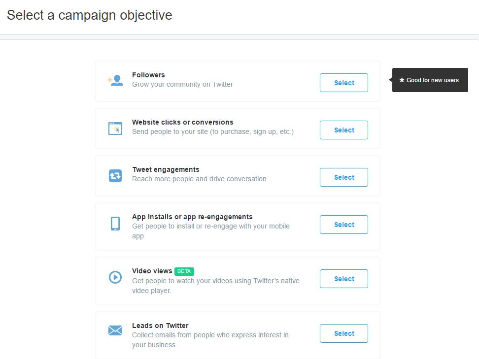 Twitter Advertising Objectives