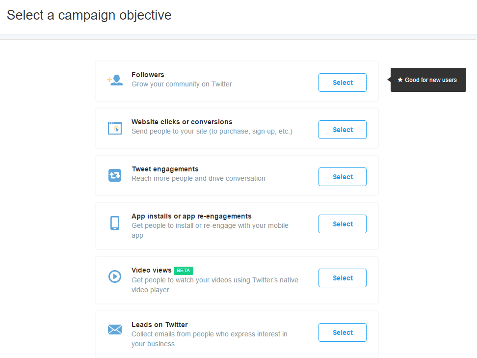 Twitter Advertising Objectives