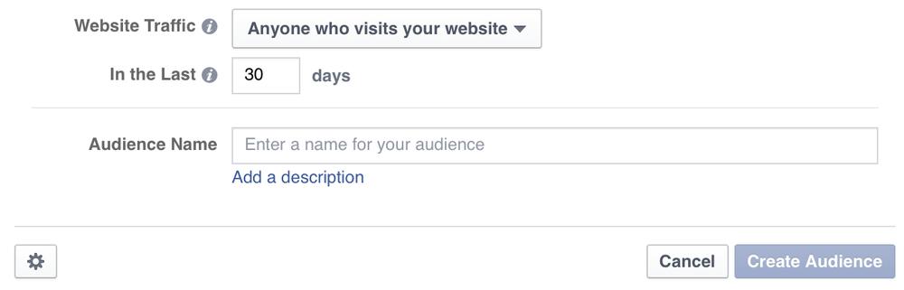 Facebook Website Traffic screenshot