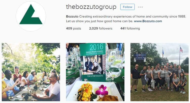 Bozzuto Group Instagram